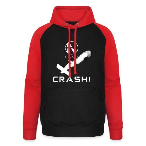 CRASH! + WE GO DOWN IN FLAMES! - Unisex baseball hoodie