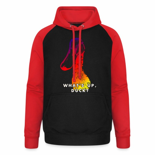 what's up duck - Color - Unisex Baseball Hoodie