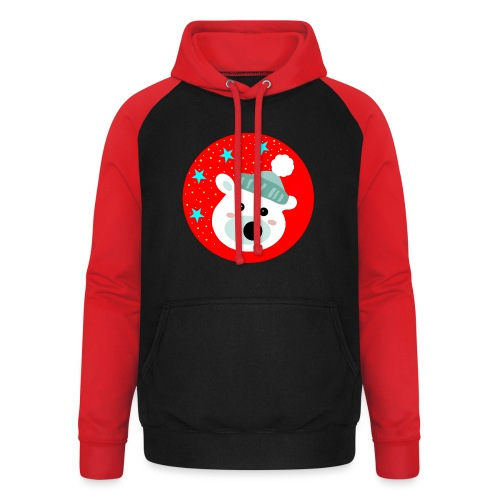 Winter bear - Unisex Baseball Hoodie
