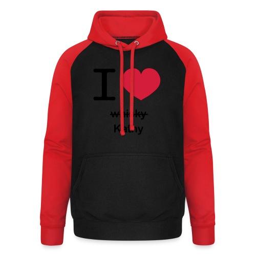 ilovekathy - Unisex baseball hoodie