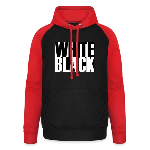 White, Black T-shirt - Unisex baseball hoodie