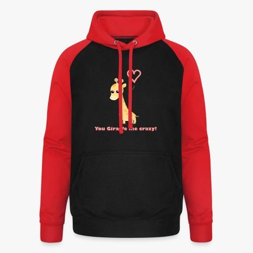 Giraffe Me Crazy - Unisex baseball hoodie