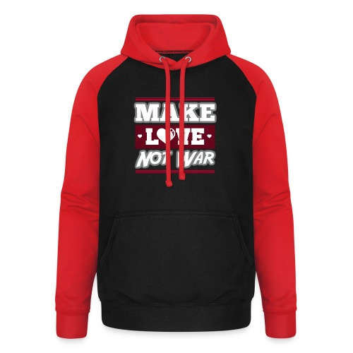 Make_love_not_war by Lattapon - Unisex baseball hoodie