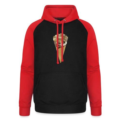 Low-poly_Ice_Cream - Unisex baseball hoodie