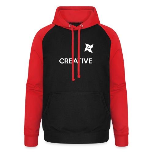 Creative simple black and white shirt - Unisex baseball hoodie