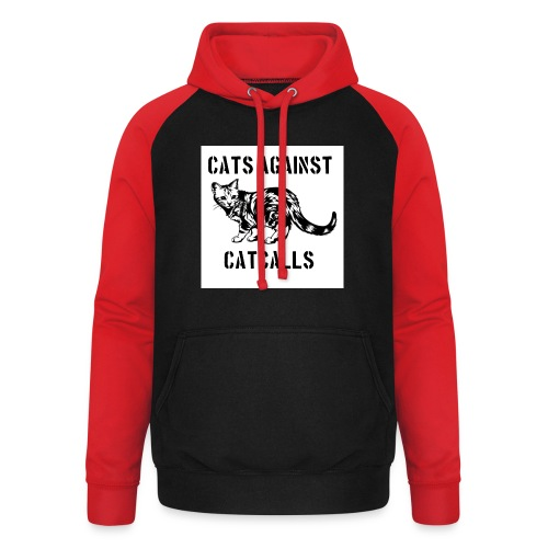 Cats against catcalls - Unisex Baseball Hoodie