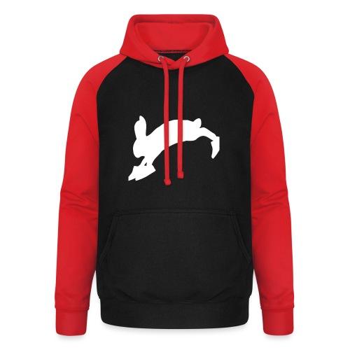 Bunny_Logo - Unisex baseball hoodie