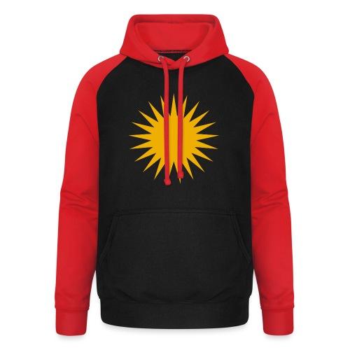 Kurdische Sonne Symbol - Unisex Baseball Hoodie