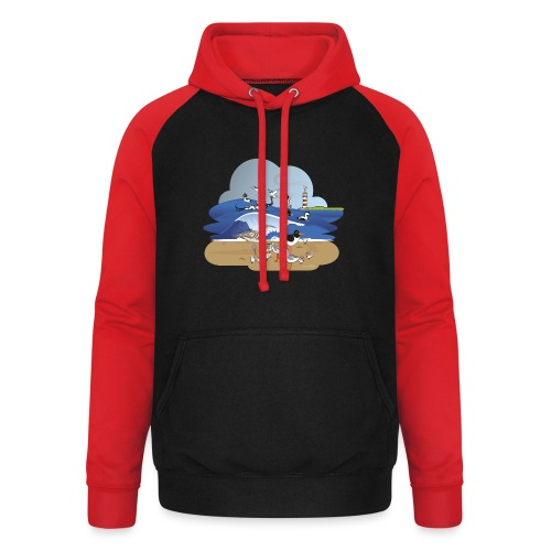 See... birds on the shore - Unisex Baseball Hoodie