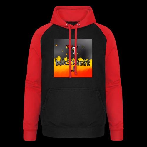Waschbeer Design 2# Mit Flammen - Unisex Baseball Hoodie