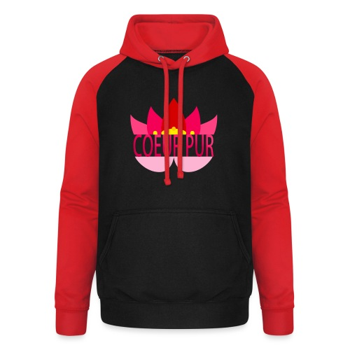 Lotus pur - Sweat-shirt baseball unisexe