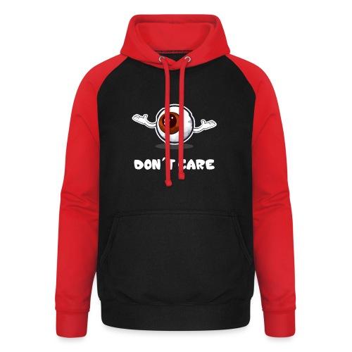 EYE don't care - Sweat-shirt baseball unisexe