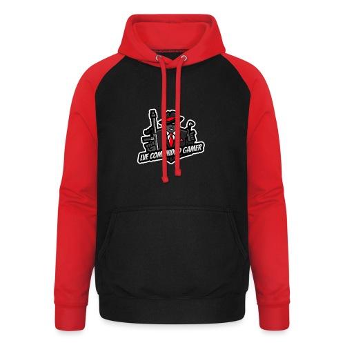 Logo Rojo - Sudadera con capucha de béisbol unisex