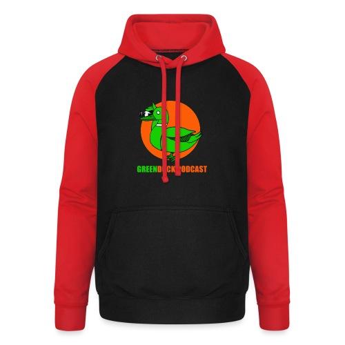 Greenduck Podcast Logo - Unisex baseball hoodie
