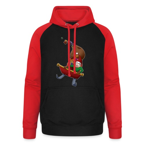 Davincstyle slee achtbaan - Unisex baseball hoodie