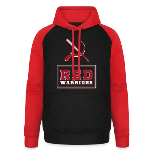 Red Warriors Logo2 - Sweat-shirt baseball unisexe