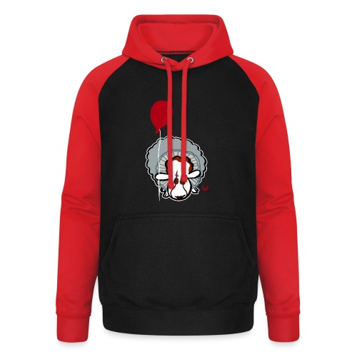 Evil Clown Sheep from IT - Unisex Baseball Hoodie