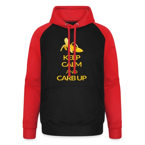 KEEP CALM and CARB UP - Unisex Baseball Hoodie
