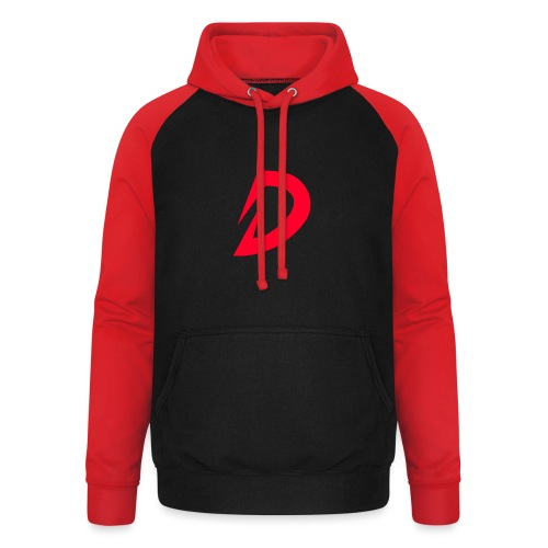 Destra Logo by Atelier render red - Unisex baseball hoodie