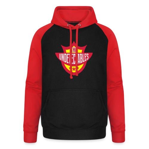 Undetectables voorkant - Unisex baseball hoodie