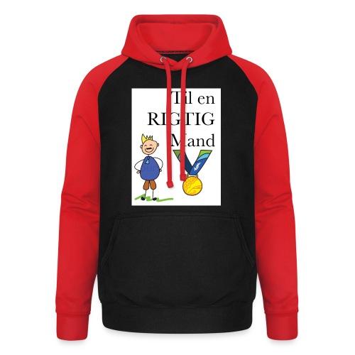 En rigtig mand - Unisex baseball hoodie