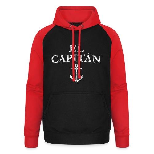 El Capitan Anker (Vintage Weiß) Kapitän Käpt'n - Unisex Baseball Hoodie