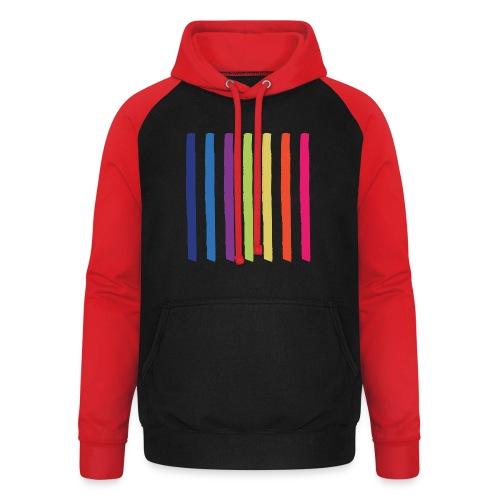 Linjer - Unisex baseball hoodie