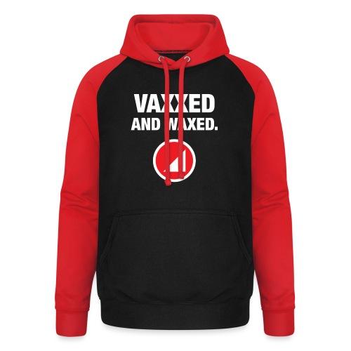 VAXXED - Sudadera con capucha de béisbol unisex