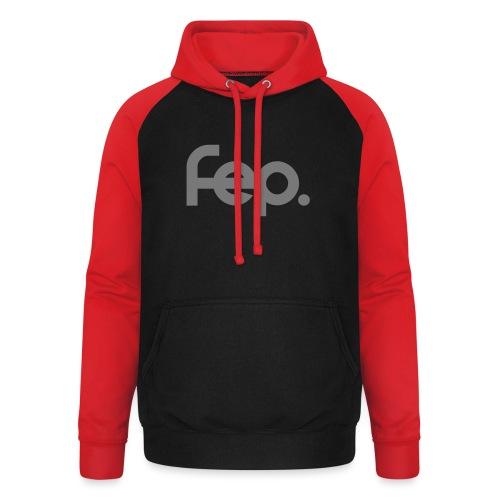 FEP logo gray - Unisex Baseball Hoodie