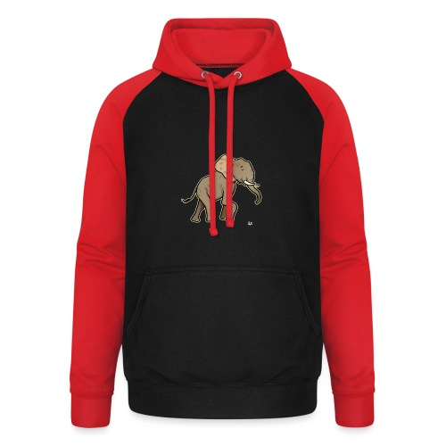 African Elephant (black edition) - Unisex Baseball Hoodie