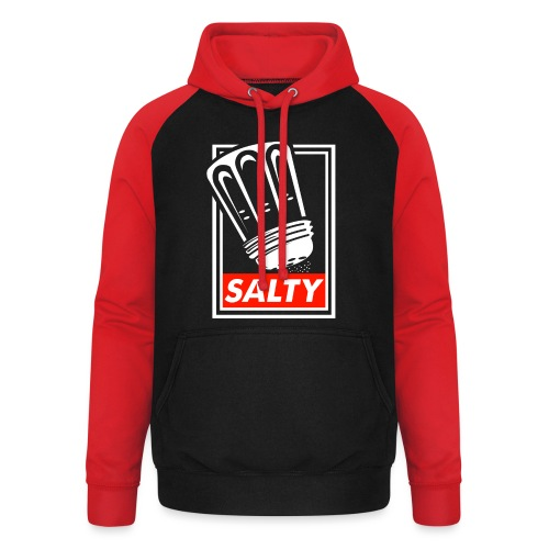 Salty white - Unisex Baseball Hoodie