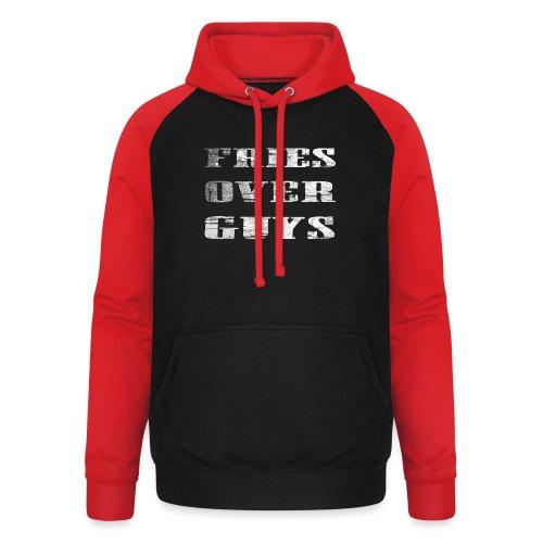 Fries Over Guys - Unisex baseball hoodie