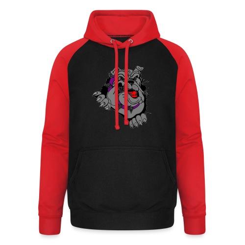 bulldog - Unisex baseball hoodie
