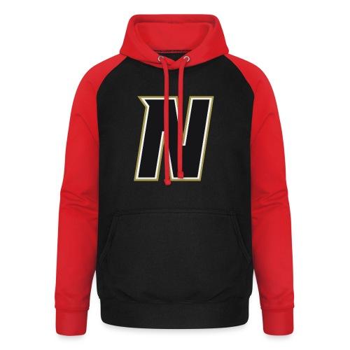 Nordic Steel Black N - Unisex Baseball Hoodie