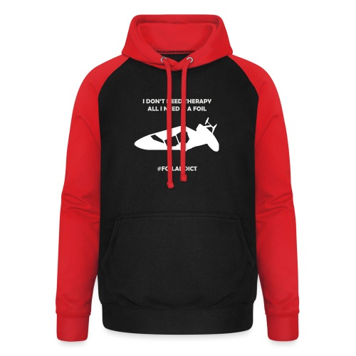 WINDFOIL THERAPY - Unisex Baseball Hoodie