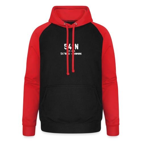 54°Nord NO square t-shirt - Unisex baseball hoodie