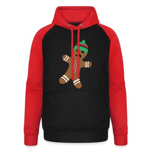 Lebkuchenmann - Lustiges Weihnachtsgeschenk - Unisex Baseball Hoodie