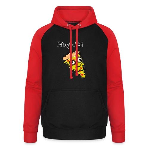spaghetti (witte tekst) - Unisex baseball hoodie