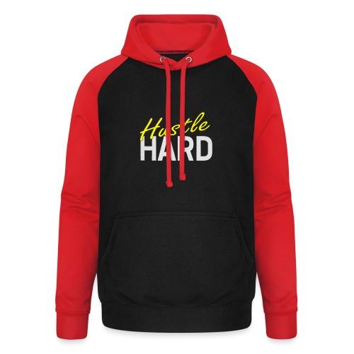 Hustle hard - Sweat-shirt baseball unisexe