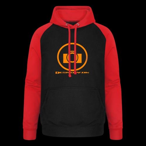 Orange 2 png - Unisex baseball hoodie