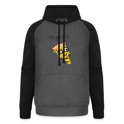 spaghetti trui - Unisex baseball hoodie