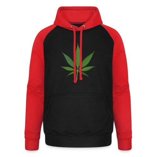 2000px-Cannabis_leaf_2 - Unisex baseball hoodie