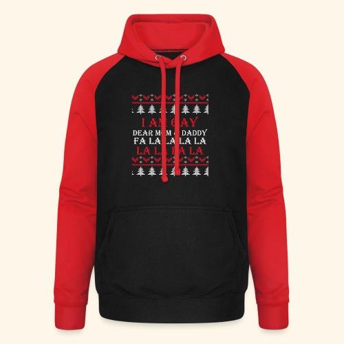 Gay Christmas sweater - Bluza bejsbolowa typu unisex