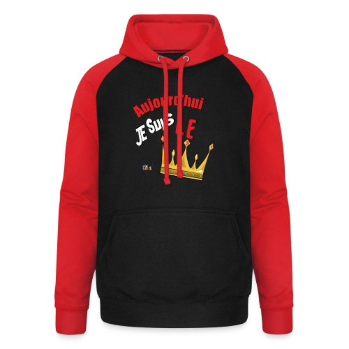 Anniversaire Roi rouge - Sweat-shirt baseball unisexe