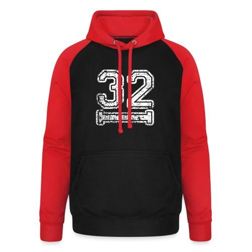 32 Baseball Logo - Unisex Baseball Hoodie
