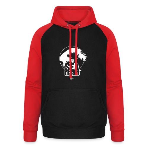 Sea of red logo - white - Unisex Baseball Hoodie