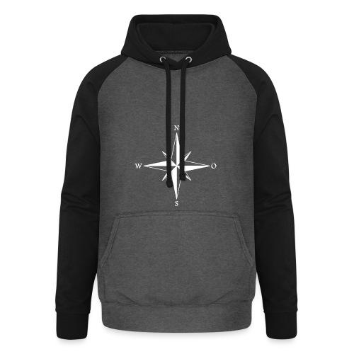 Kompas white - Unisex baseball hoodie