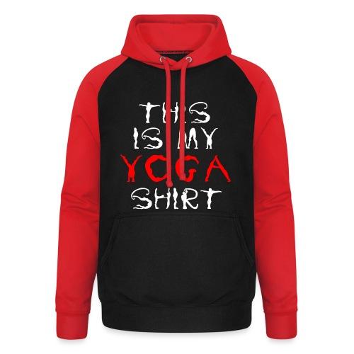 camicia yoga sport bianco spiritualità meditazione arte - Felpa da baseball con cappuccio unisex