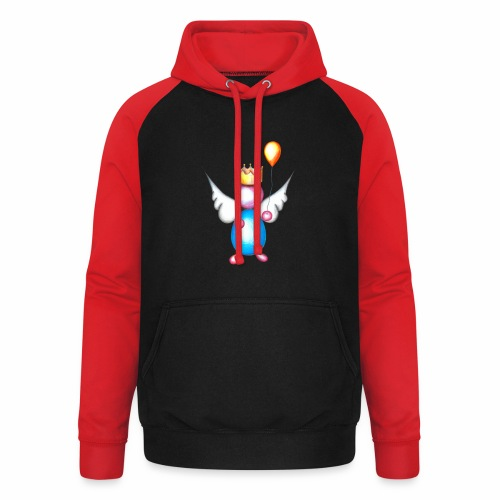 Mettalic Angel geluk - Unisex baseball hoodie