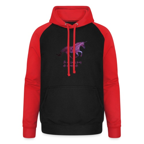 La licorne cosmique - Sweat-shirt baseball unisexe
